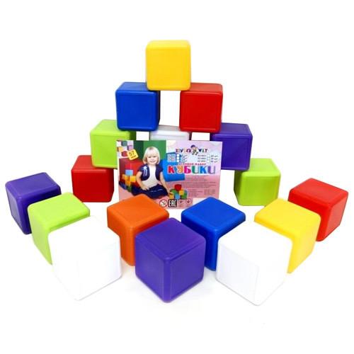 Кубики 28шт, 6*6*6см, в сетке 02-604 Киндервей