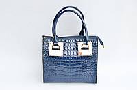 Стильная лаковая женская сумка на плечо крокодиловая кожа PU