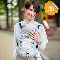 Эрго рюкзак Love & Carry DLIGHT из шарфовой ткани — Форест