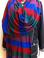 Трикотажный полосатый  широкий шарф палантин