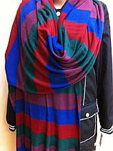 Трикотажный полосатый шарф