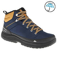 Ботинки  на меху водонепроницаемые синик на шнуровке для туризма и города