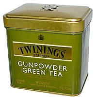 Зеленый Чай  крупнолистовой Twinings Gunpowder зеленый порох 100 грамм  в жестяной банке