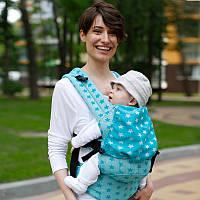 Эрго рюкзак Love & Carry DLIGHT из шарфовой ткани — Звезды