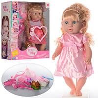 Кукла 30720-31C-32С (8шт) 42см,зв,горш,фен,бутылочка,,миш-пищалк,2в,на бат-ке(таб),кор,38,5-41-15см