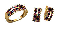 Модный золотой ювелирный комплект из золота 585* пробы
