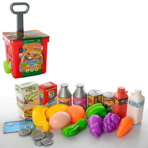 Тележка 661-92  супермаркет, продукты, 24 предмета, 19-13,5-36см