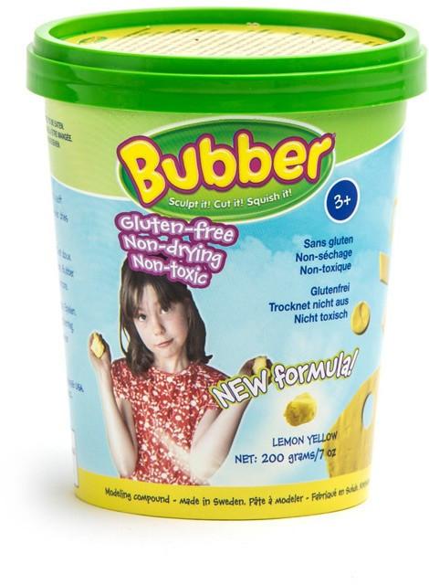 Waba Fun. Смесь для лепки желтая, ведерко 0,2 кг,Waba Fun