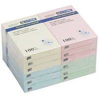 Блок для нотаток 51х76мм, 100арк., асортi