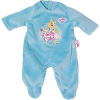 Одежда для кукол Беби Борн Велюровый комбинезон Baby Born Zapf Creation 822128