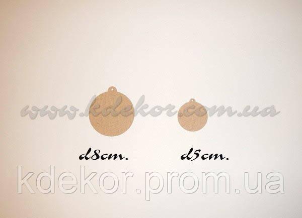 ШАР (ШАРИК) заготовка для декупажа и декора (d5см.)