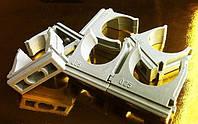 Крепеж для труб и кабеля 25мм БЕЛЫЙ И СЕРЫЙ(50шт в упаковке)