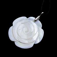 Перламутр, серебро 166КЛП, кулон цветочек