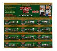 Клей SOMA FIX супер клей, 3 гр. 808D на блистере