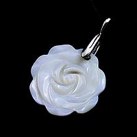 Перламутр, серебро 165КЛП, кулон цветочек