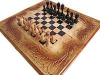 Шахматы-нарды резные с морской тематикой+шкатулка в подарок, фото 1