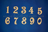 Цифры (высота 10см.) заготовки для декора