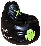 Бескаркасное кресло груша-пуф Андроид мягкое для подростков