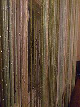 Шторы нити с люрексом радуга 20, фото 3