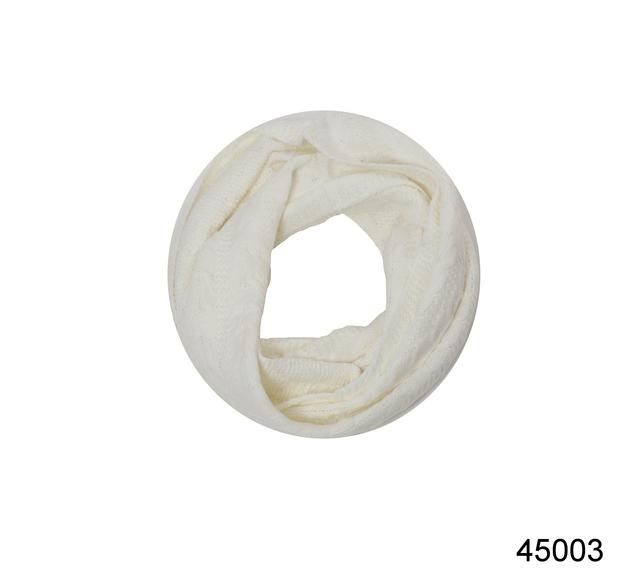 Снуд вязаный шерстяной белый 2