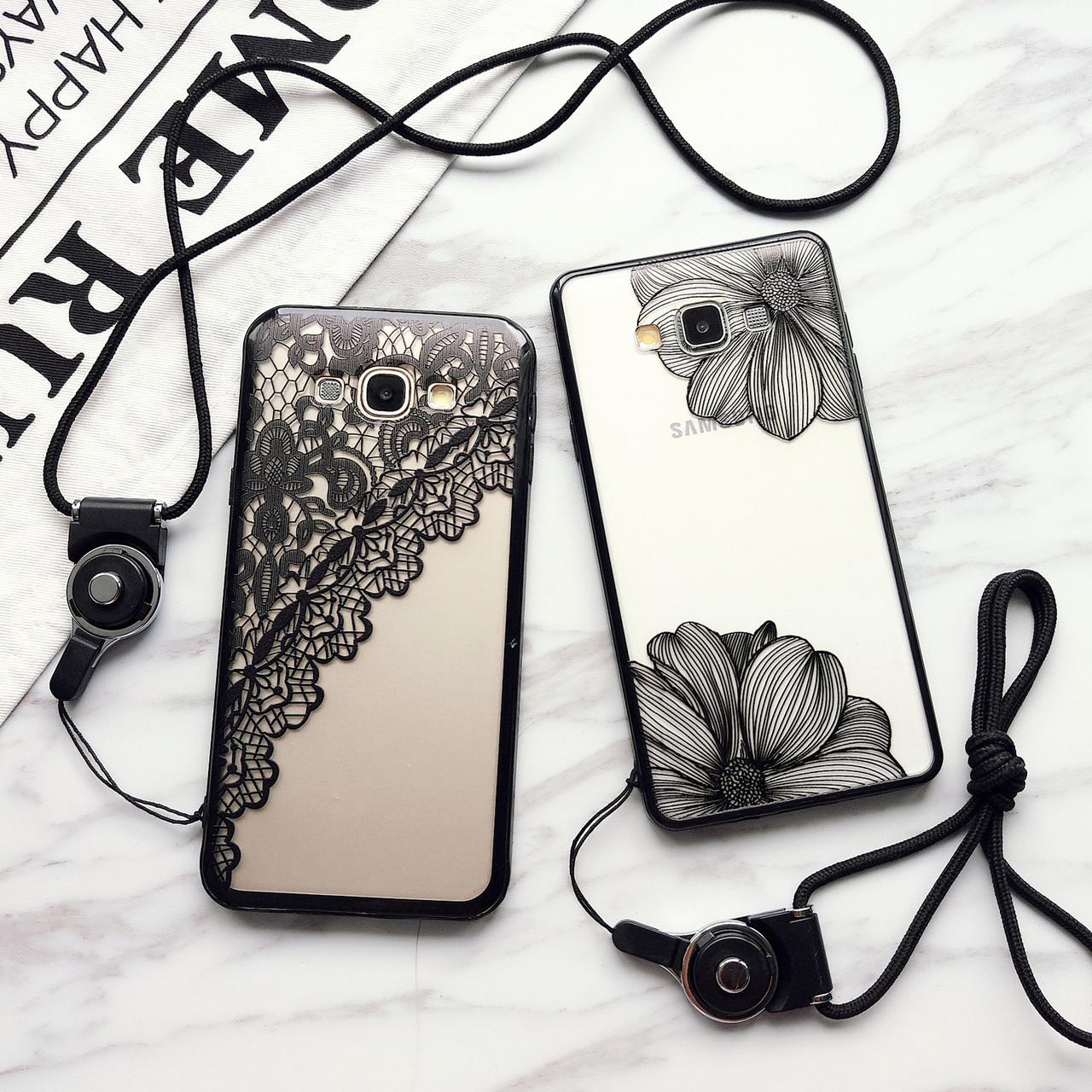 """Samsung A5 A500 противоударный чехол панель накладка бампер защита 360* 3D для телефона АЖУРНЫЙ """"PARIS AMOUR"""""""