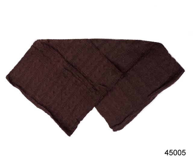 Снуд вязаный шерстяной коричневый 3