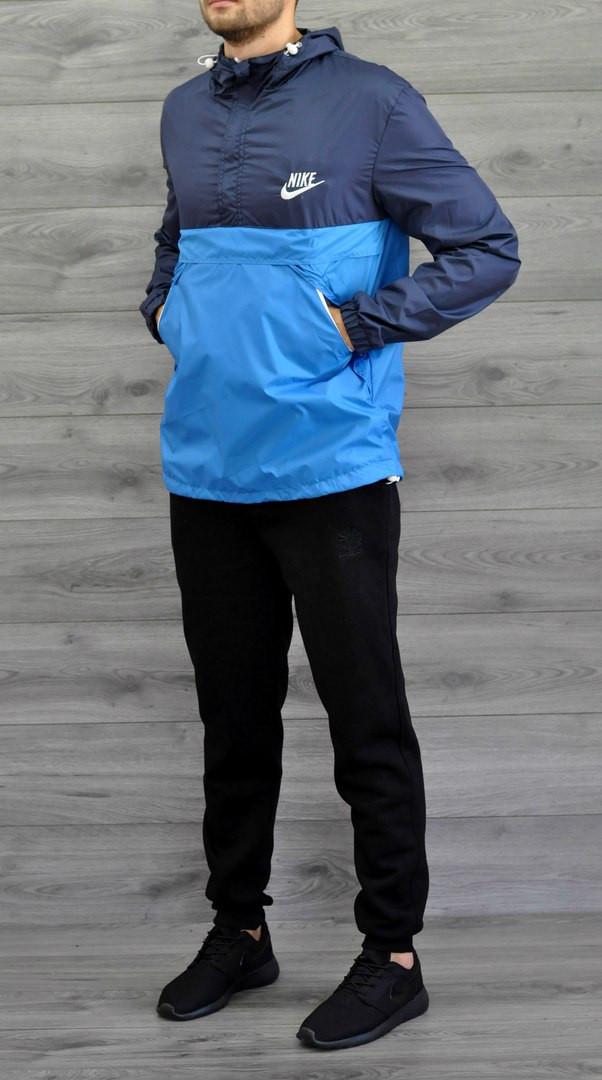 Мужской спортивный анорак Nike , сине-голубой