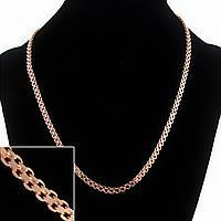 Цепочка на шею Xuping, плетение двойной Квадрат, цвет металла золото