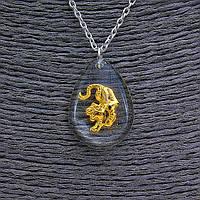 """Кулон на цепочке  """"Тигр"""" 25мм, китайский гороскоп, цвет цепочки серебро"""