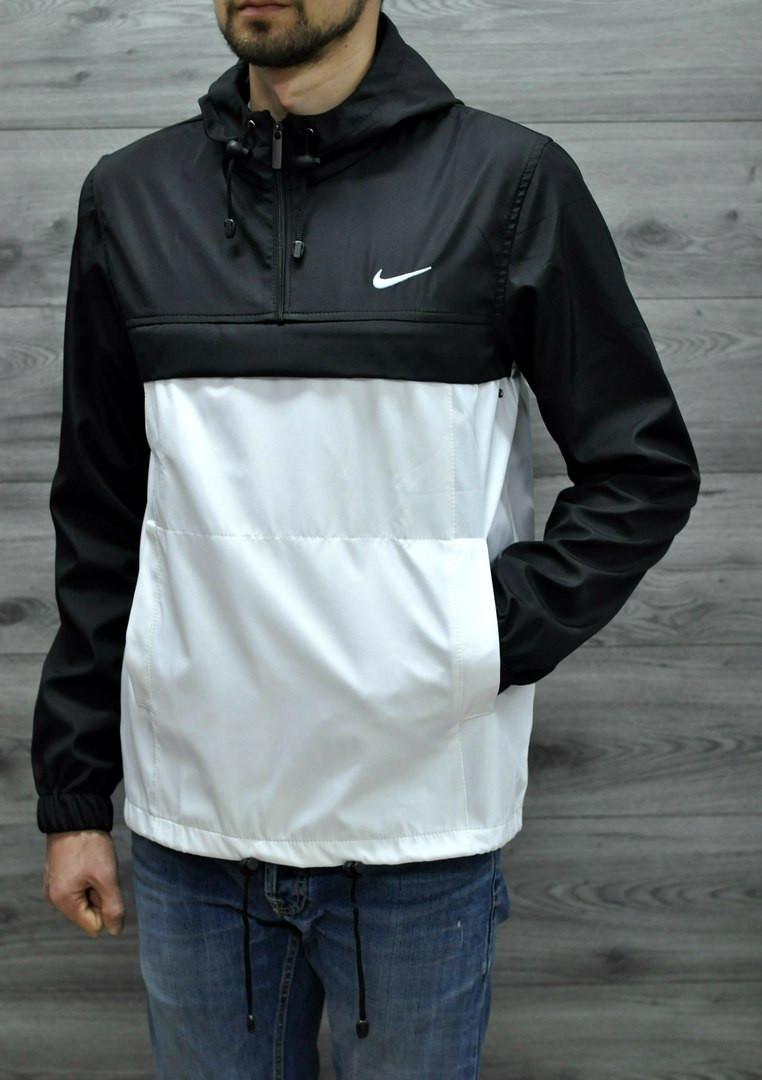 Анорак Nike черного-белый