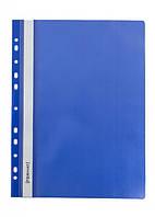 Скоросшиватель с перфорацией, синий / Format