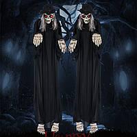 Скелет призрак 135 см - подвесной и звуковой - декорация на хэллоуин, фото 1