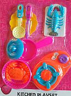 Посудка игрушечная (плита, посудка, продукты)