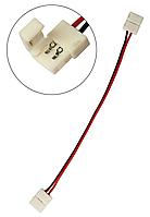 Конектор 2-pin 10 мм для LED-стрічки з 2-ма сполуками