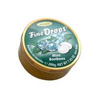 Льодяники Fine Drops Woogie зі смаком м'яти, 200 гр