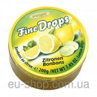 Льодяники Fine Drops Woogie зі смаком лимона, 200 гр