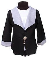 Пиджак черный на девочку