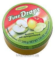Льодяники Fine Drops Woogie зі смаком яблука, 200 гр
