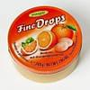 Леденцы Fine Drops Woogie со вкусом апельсина, 200 гр
