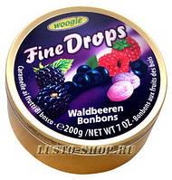 Леденцы Fine Drops Woogie со вкусом лесных ягод, 200 гр