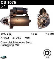 Стартер  Mercedes W124  202  203  208  210 1.8  2.0  2.3i CS1075
