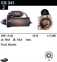 Стартер Ford Escort Fiesta Orion Mondeo 1.6 1.8 (D, TD)  /1, 7кВт z10/ CS341