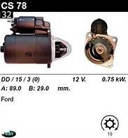 Стартер Ford Escort 1.1 1.3i Sierra 1.6  1.8  2.0i CS78