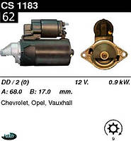 Стартер Opel  Vectra B  Astra F  Lanos  1.4  1.5  1.6 /0, 9кВт 9/ CS1183