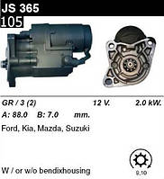 Стартер Mazda 323 626  E-SERIE  /2, 0кВт z9/  JS365