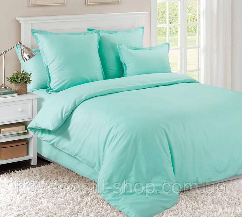 Комплект постельного белья сатин однотонный Ментол