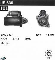 Стартер Mazda 929  III (HC) 2.0  2.2 12V JS636