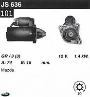 Стартер Mazda 929  III (HC) 2.0  2.2 12V JS636, фото 1