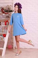 Нарядное голубое платье для подростка