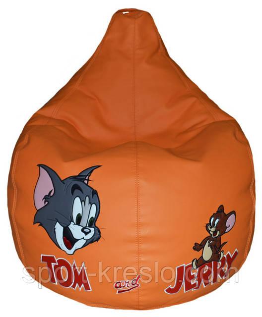 Детское Кресло-пуф мешок груша мягкая Том и Джерри